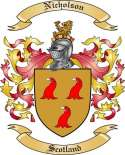 Nicholson Family Crest from Scotland