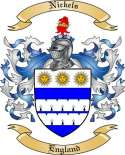 Nickels Family Coat of Arms from England