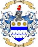 Nickelson Family Coat of Arms from England