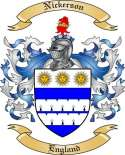 Nickerson Family Coat of Arms from England