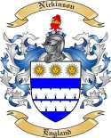 Nickinson Family Coat of Arms from England