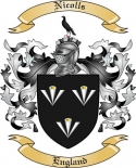 Nicolls Family Crest from England2