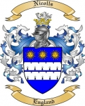 Nicolls Family Crest from England