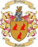 Nicolson Family Coat of Arms from Scotland