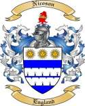 Nicoson Family Coat of Arms from England