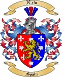 Nieto Family Crest from Spain