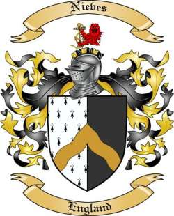 Nieves Family Crest From England By The Tree Maker