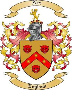 Nix Family Crest from England by The Tree Maker