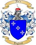 No'e Family Coat of Arms from England