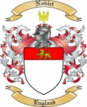 Noblet Family Coat of Arms from England