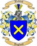 Noblett Family Crest from England2