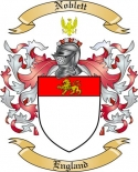 Noblett Family Crest from England