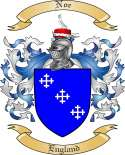 Noe Family Coat of Arms from England