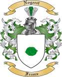 Nogaret Family Crest from France
