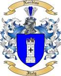 Nordine Family Coat of Arms from Italy