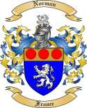 Norman Family Crest from France