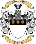 Normanville Family Crest from England