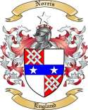 Norris Family Coat of Arms from England