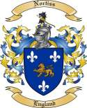 Nortiss Family Coat of Arms from England