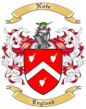 Note Family Crest from England