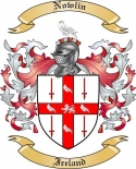 Nowlin Family Crest from Ireland