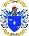Noye Family Coat of Arms from England