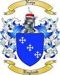 Noye Family Crest from England
