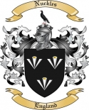 Nuckles Family Crest from England2