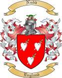 Nudd Family Coat of Arms from England