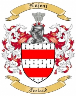 Nujent Family Crest from Ireland