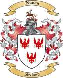 Nunan Family Crest from Ireland
