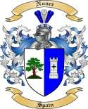 Nunez Family Coat of Arms from Spain