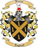 Nunne Family Crest from England