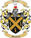 Nunne Family Coat of Arms from Scotland