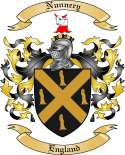 Nunnery Family Crest from England