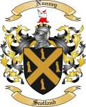 Nunney Family Coat of Arms from Scotland
