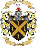 Nunny Family Crest from England