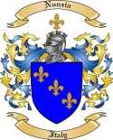 Nunzia Family Coat of Arms from Italy