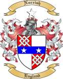 Nurrish Family Crest from England