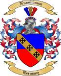 Nussbbaum Family Crest from Germany