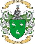 O'Ahern Family Crest from Ireland