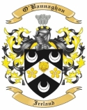 O'Bannaghan Family Crest from Ireland