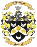 O'Bannon Family Crest from Ireland