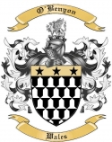 O'Benyon Family Crest from Wales