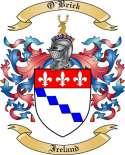 O'Brick Family Crest from Ireland