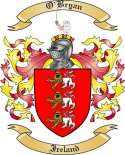 O'Bryan Family Crest from Ireland