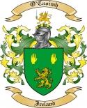 O'Caoimh Family Crest from Ireland
