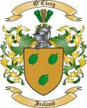 O'Clery Family Crest from Ireland