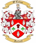 O'Colen Family Coat of Arms from Ireland