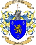 O'Colligan Family Crest from Ireland